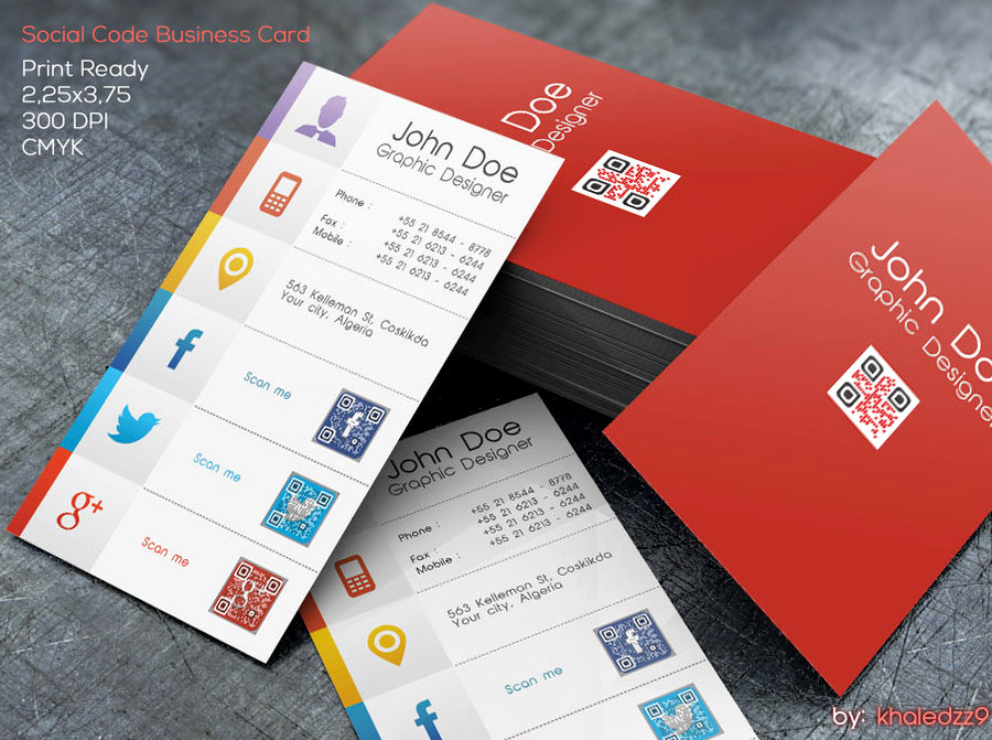 Social Media On Business Cards New social Code Business Card by Khaledzz9 On Deviantart