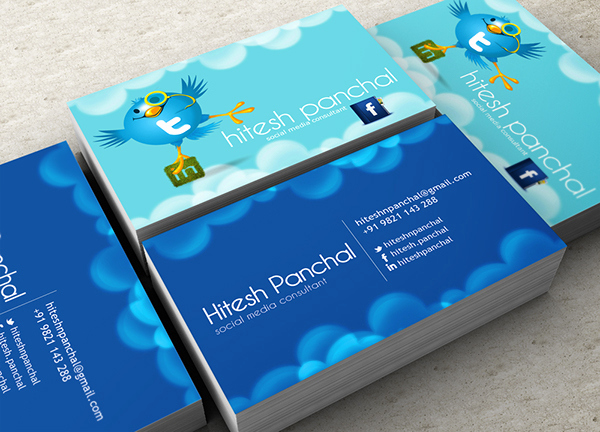 Social Media On Business Cards New social Media Consultant Business Card On Behance