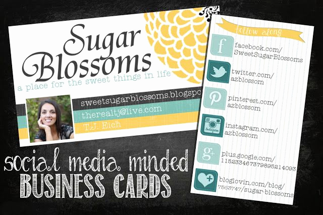 Social Media On Business Cards New Sugar Blossoms social Media Business Cards for Bloggers