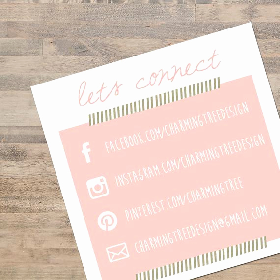Social Media On Business Cards New Unavailable Listing On Etsy