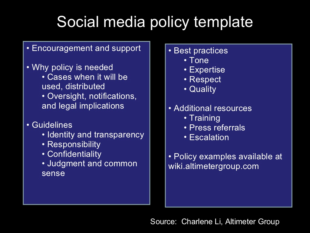 Social Media Policy Template Unique social Media Policy Template Encouragement