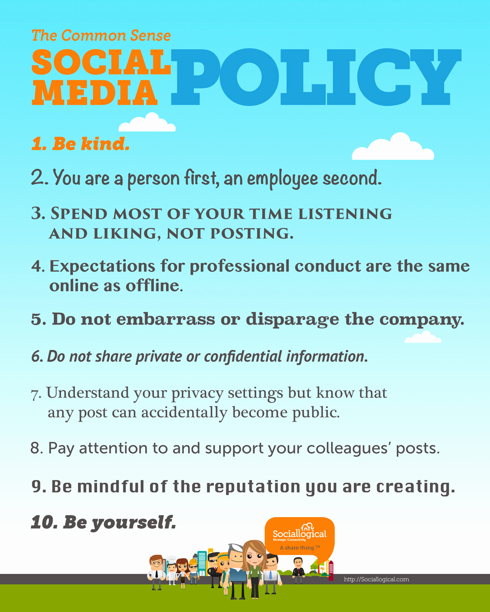 Social Media Policy Templates Elegant the 10 Point social Media Policy Everyone Will Understand