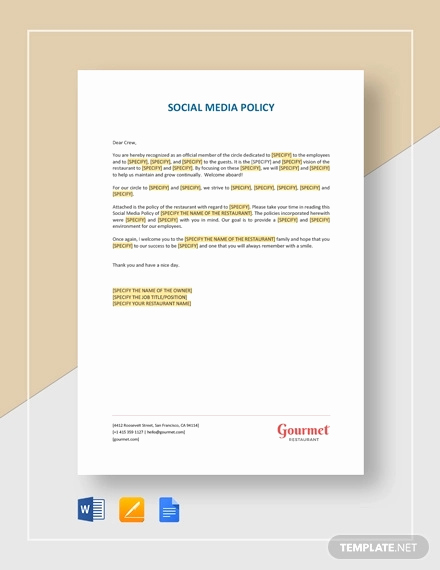 Social Media Policy Templates Inspirational How to Write A social Media Policy