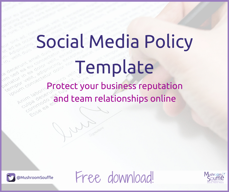 Social Media Policy Templates Luxury social Media Policy Template Mushroom soufflé