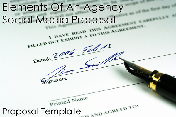 Social Media Proposal Template Awesome Important Elements An Agency social Media Proposal