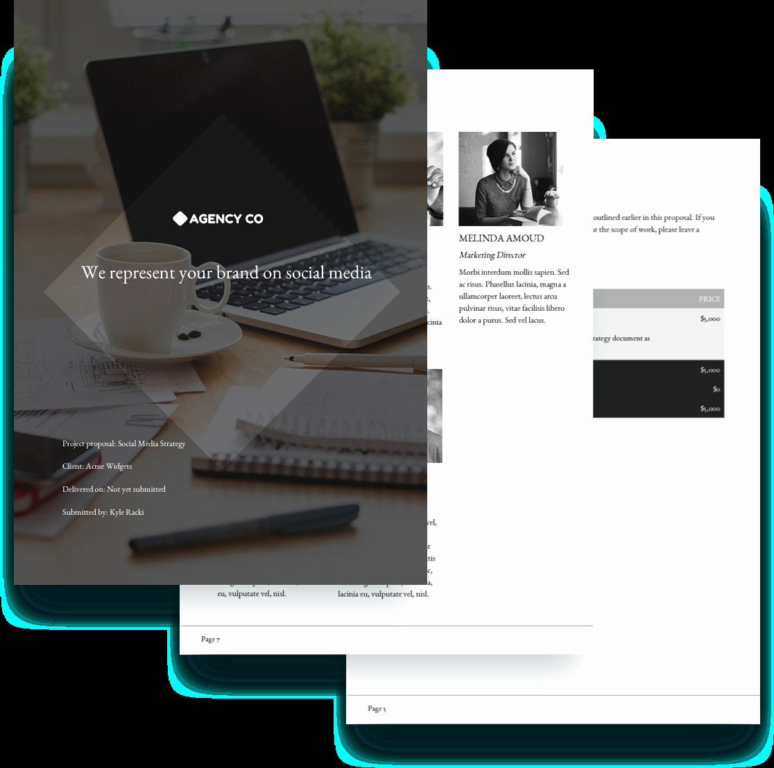 Social Media Proposal Template Awesome social Media Proposal Template Free Sample