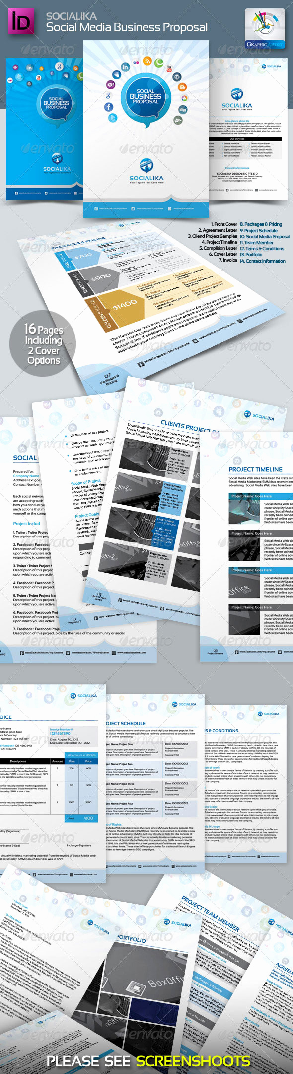 Social Media Proposal Template Beautiful social Media Business Proposal Template