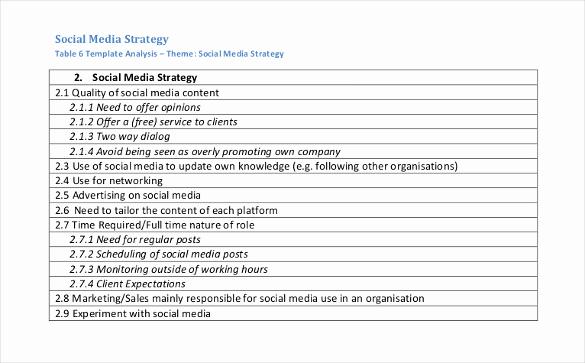 Social Media Proposal Template Fresh social Media Strategy Template 14 Free Word Pdf