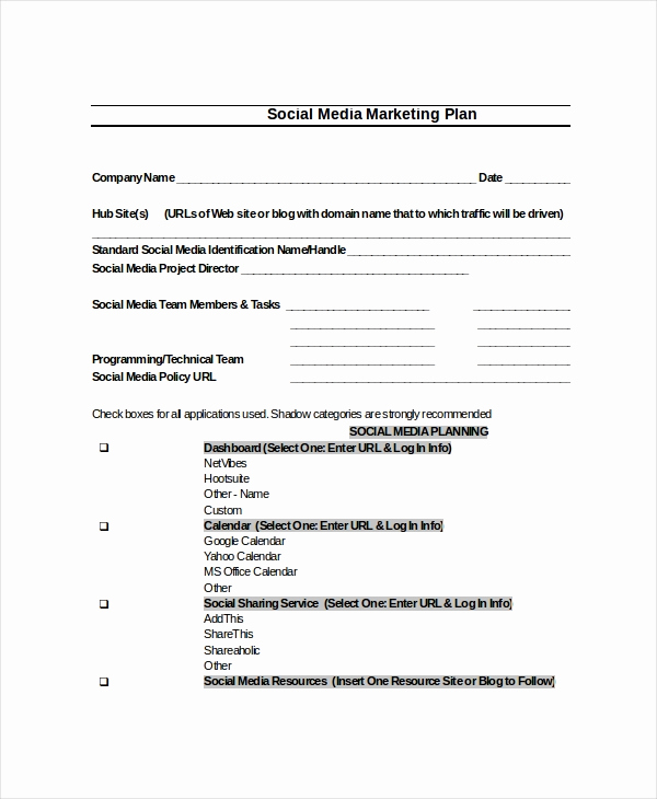 Social Media Proposal Template Lovely Plan Template 18 Free Word Pdf Psd Indesign format