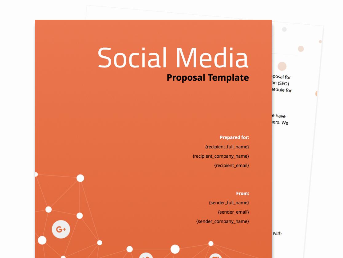 Social Media Proposal Template Unique Free Business Proposal Templates