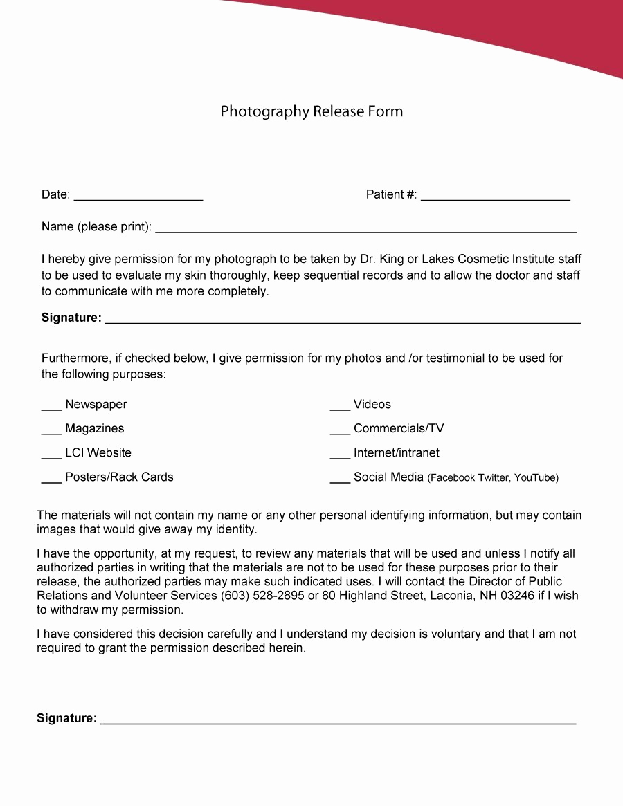 Social Media Release form Awesome 53 Free Release form Templates [word Pdf]