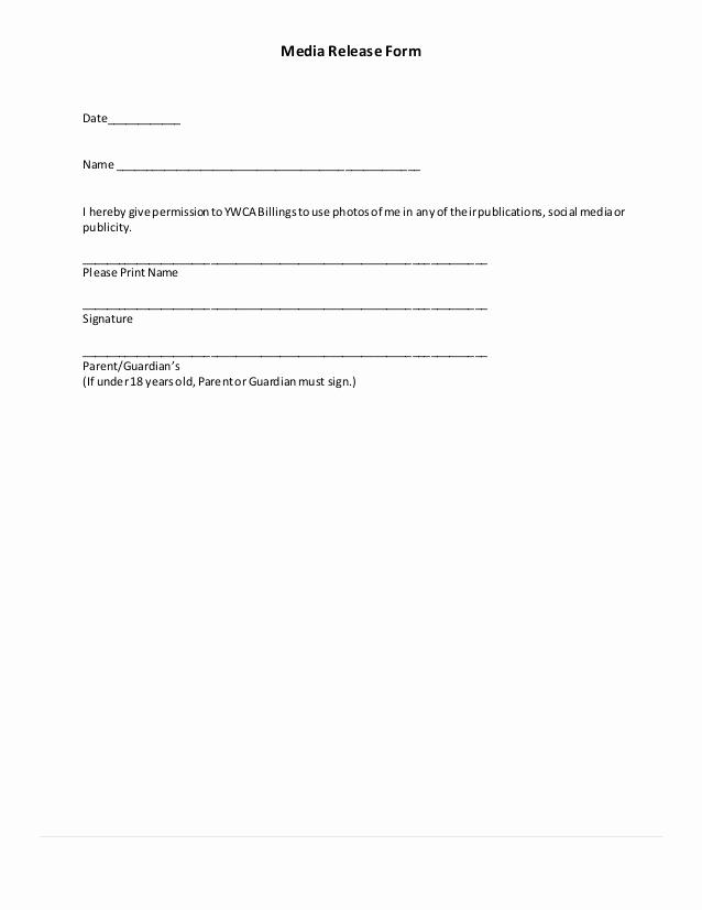 Social Media Release form Inspirational Volunteer orientation Handbook