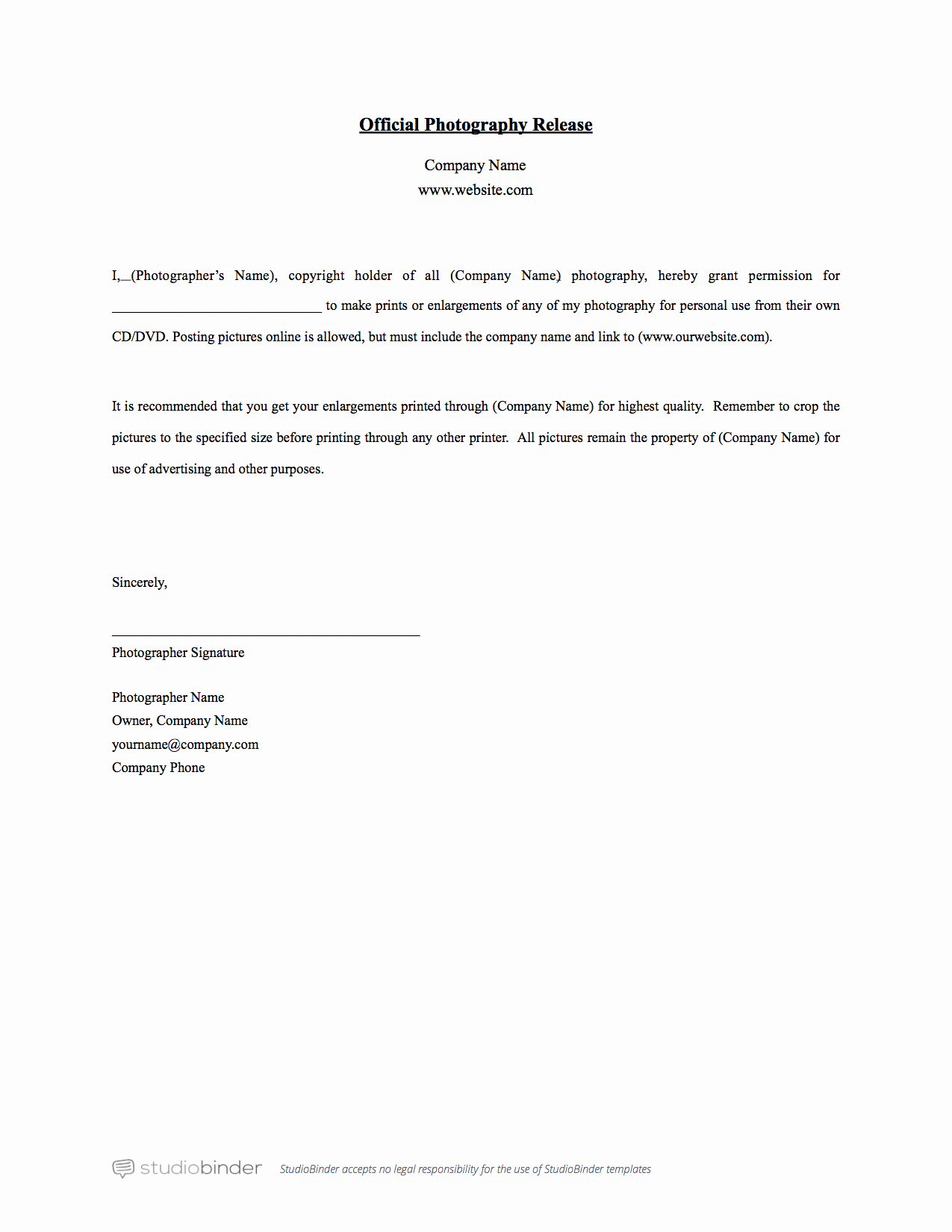 Social Media Release form Inspirational why You Should Have A Release form Template