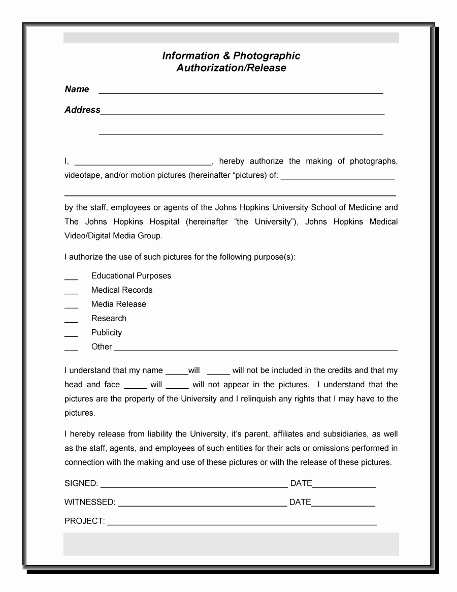 Social Media Release form Luxury 53 Free Release form Templates [word Pdf]