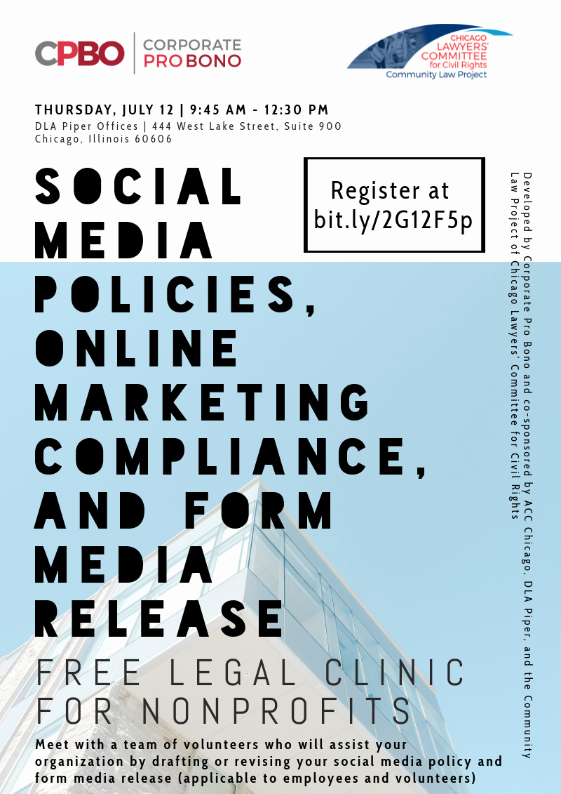 Social Media Release form Luxury Free Legal Clinic for Nonprofits social Media Policies