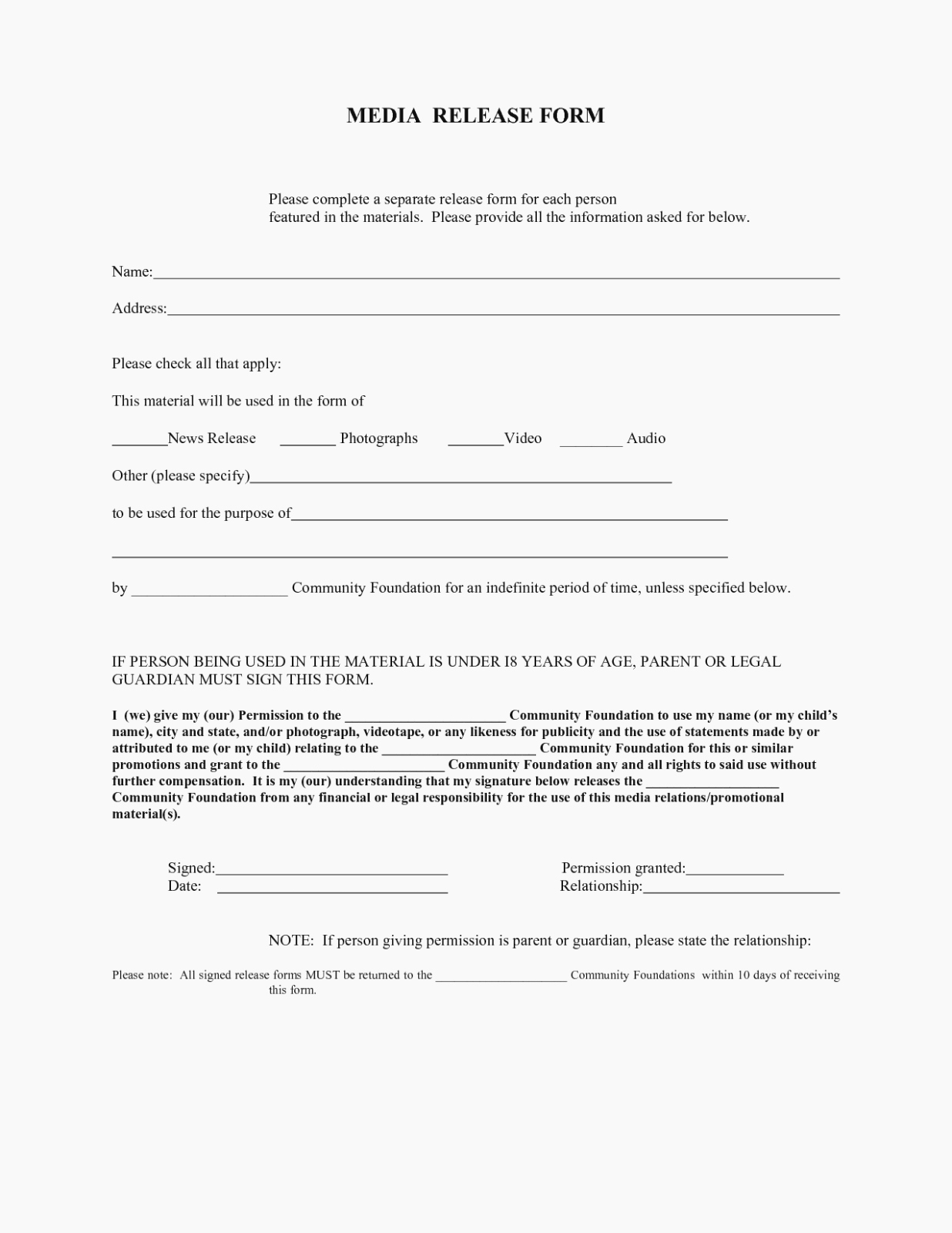 Social Media Release form New Understand the Background