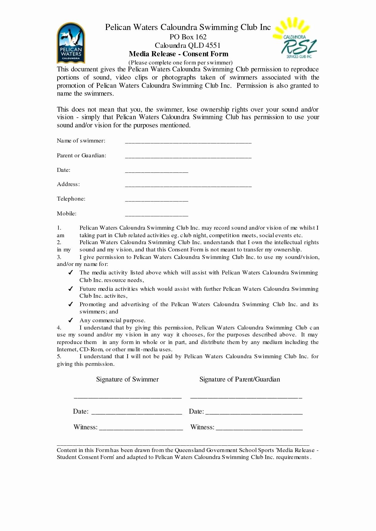 Social Media Release form Unique 29 Of social Media Release form Template