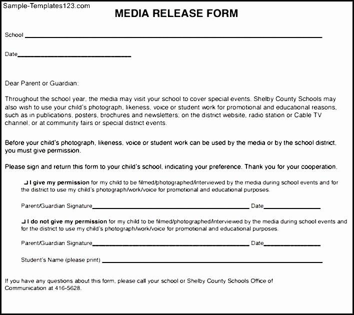 Social Media Release form Unique social Media Release form