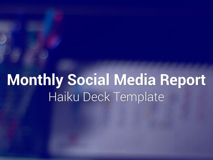 Social Media Report Template Lovely 1000 Images About Templates On Pinterest