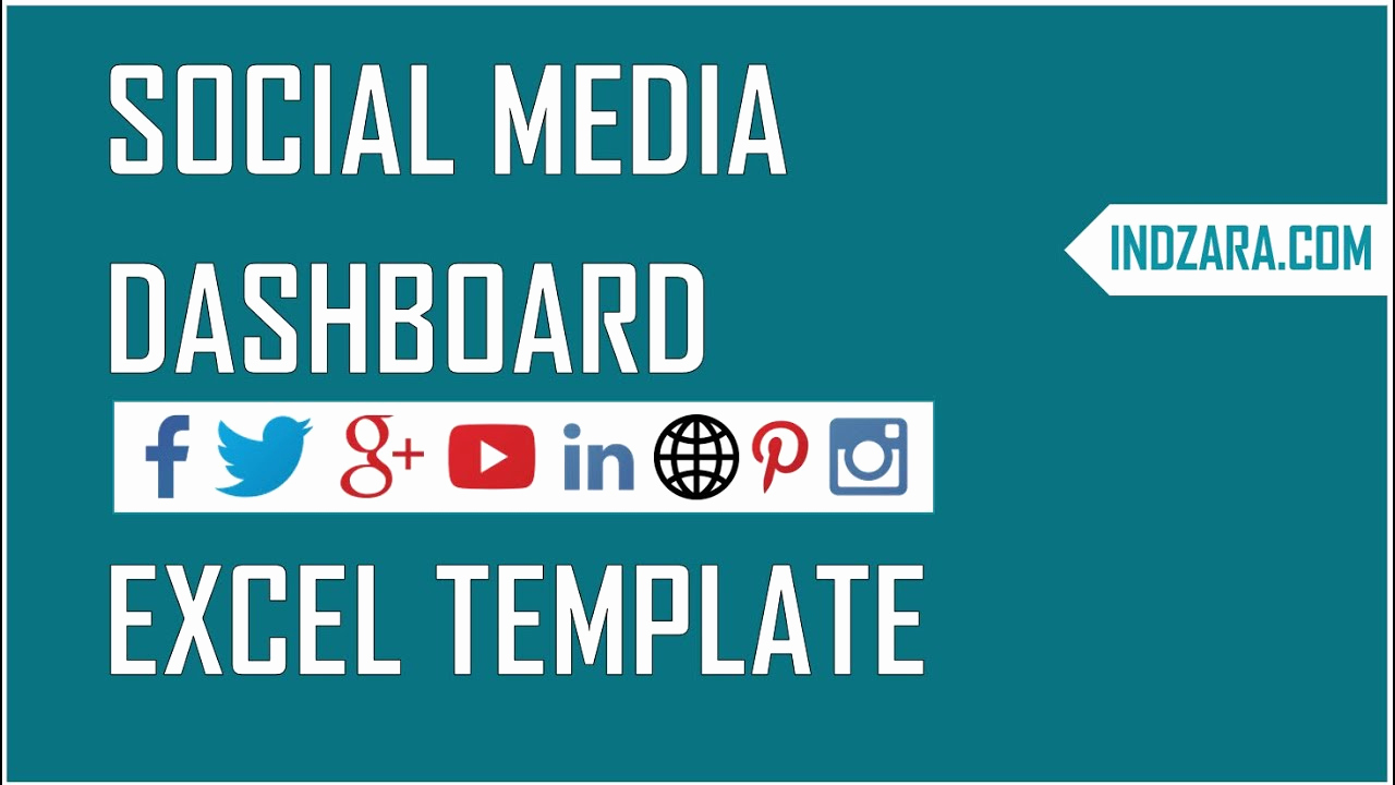 Social Media Report Template Luxury social Media Dashboard Free Excel Template to Report