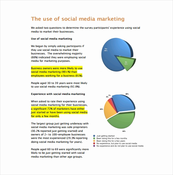 Social Media Report Templates Inspirational Marketing Report Template 16 Free Sample Example