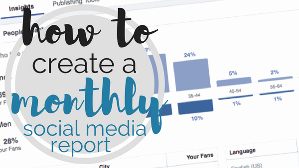 Social Media Report Templates Lovely [template] How to Create A Monthly social Media Report
