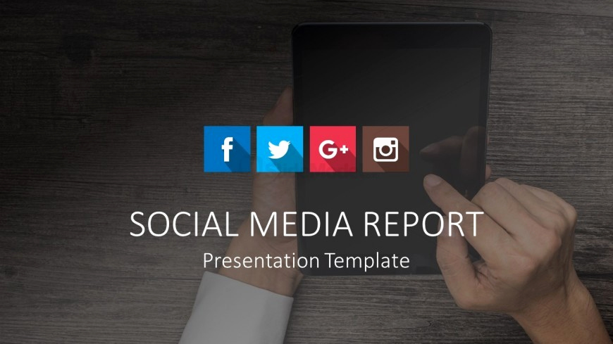 Social Media Reporting Templates Luxury social Media Report Template Cover Slidemodel