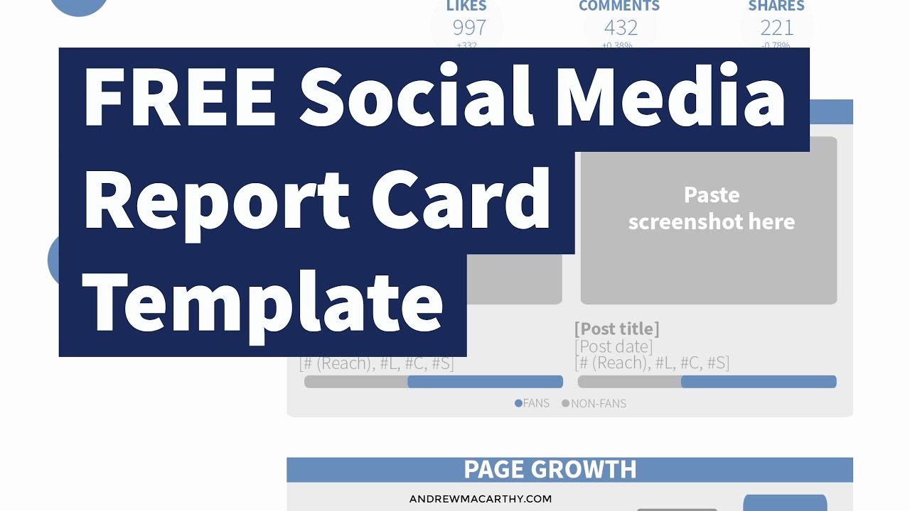 Social Media Reporting Templates New Free social Media Report Card Template Shop D