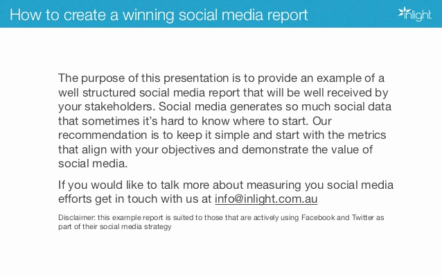Social Media Reports Template Awesome How to Create A Winning social Media Report