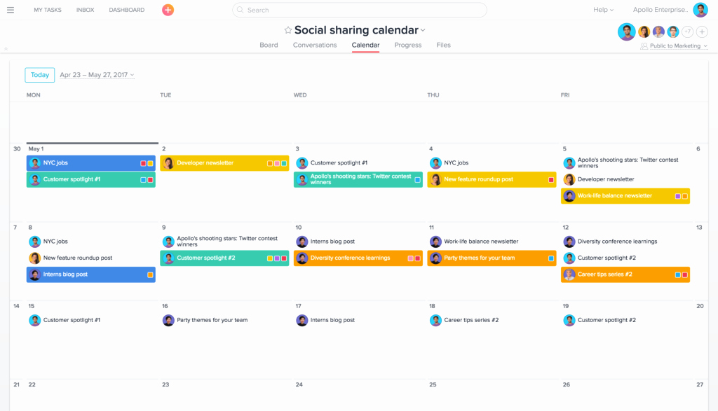 social media management workflows templates