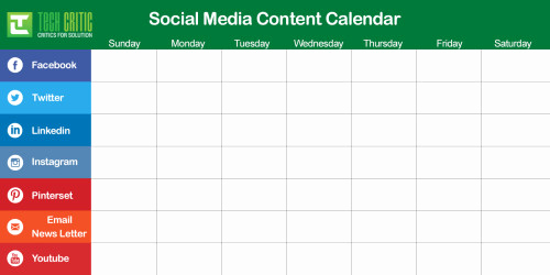 Social Media Schedule Template Beautiful Building Your Content Calendar – sojcssm