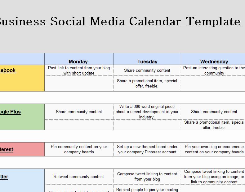 Social Media Schedule Template Luxury 2016 social Media Marketing Calendar My Excel Templates