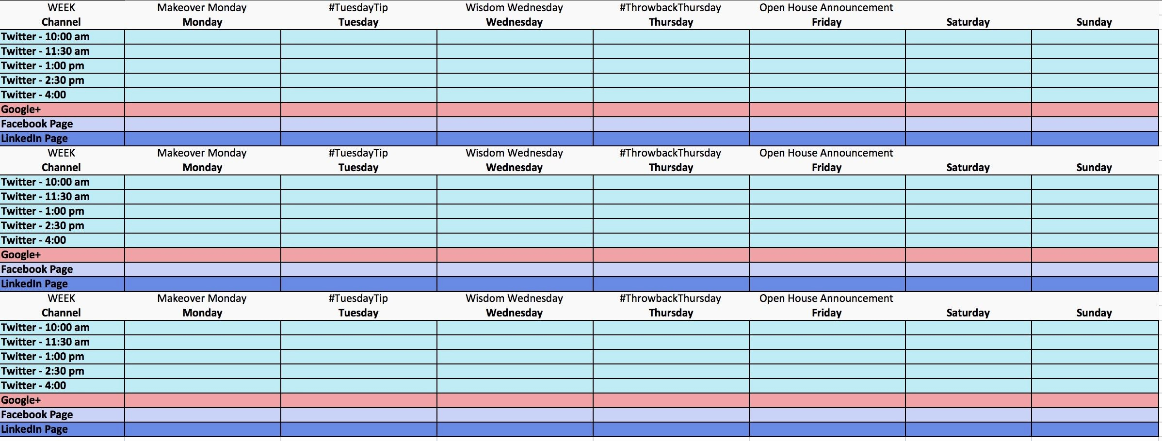 Social Media Schedule Template Unique the Ultimate Guide to Creating Your social Media Calendar