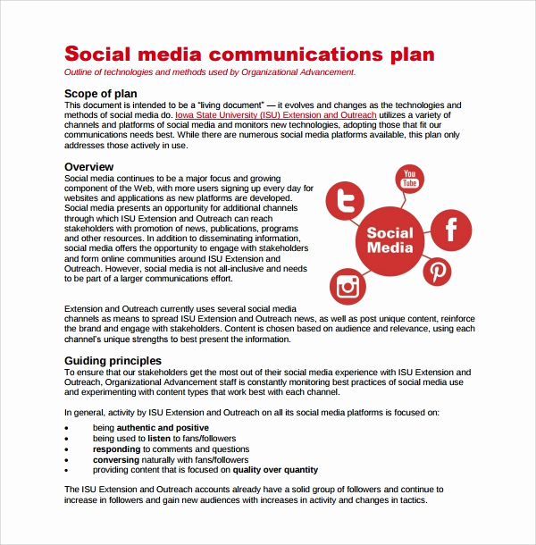 Social Media Strategy Example Beautiful Sample Media Plan Template 6 Documents In Pdf