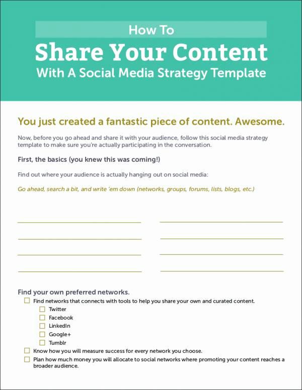Social Media Strategy Example Lovely 5 social Media Strategy Samples & Templates