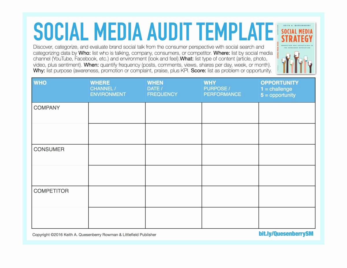 Social Media Strategy Example Lovely social Media Templates