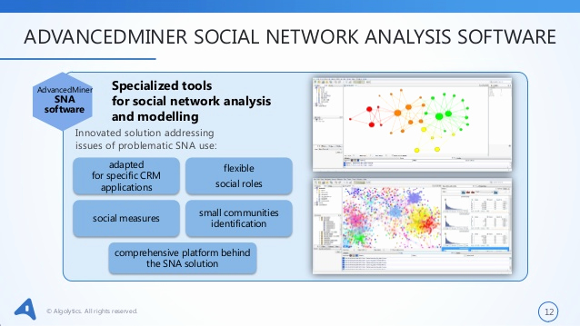 Social Network Analysis software Elegant social Network Analysis with Advancedminer Sna software