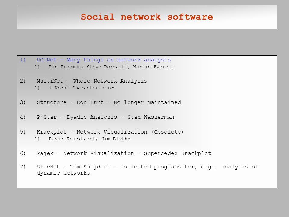 Social Network Analysis software Inspirational social Network Analysis Ppt