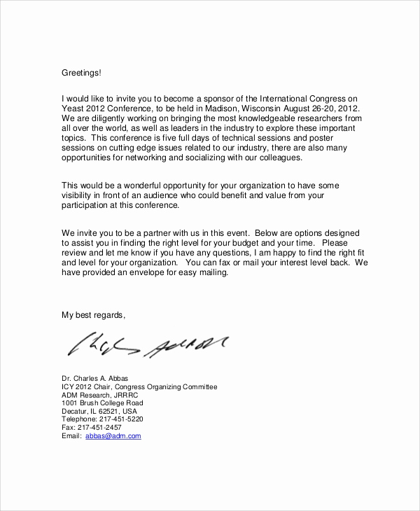 Sponsorship Letter for event Elegant 12 Sample event Sponsorship Letters Pdf