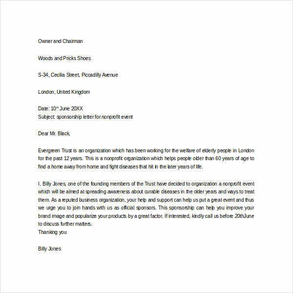 Sponsorship Letter for event Elegant 29 Sample Sponsor Thank You Letters Pdf Word