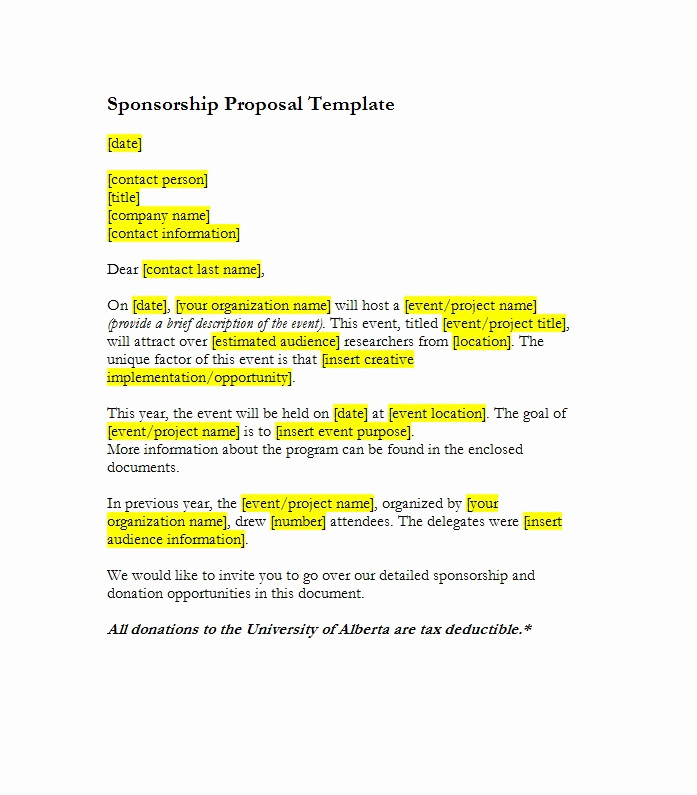 Sponsorship Letter for event New 40 Sponsorship Letter & Sponsorship Proposal Templates