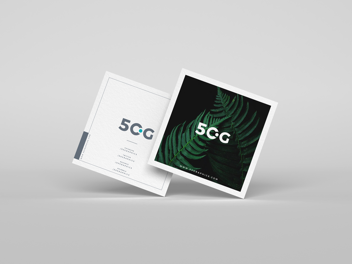 Square Business Card Mockup Awesome Free Brand Square Business Cards Mockup Psd 50 Graphics