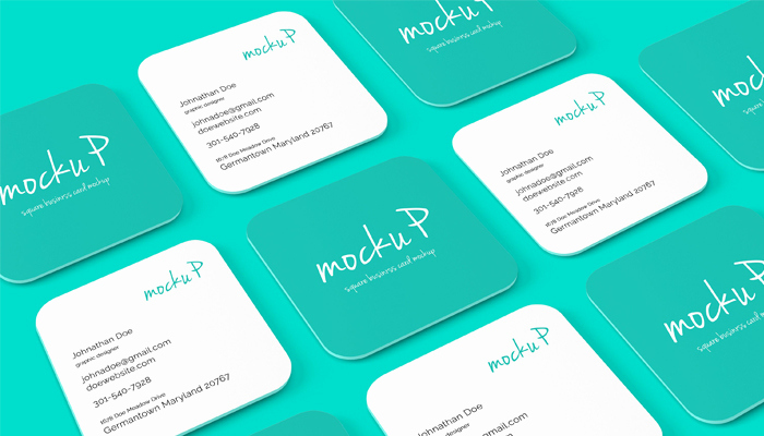Square Business Card Mockup Beautiful 25 Square Business Card Mockup Templates Mashtrelo