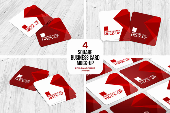 Square Business Card Mockup Fresh 45 Clean Business Card Psd Mockups
