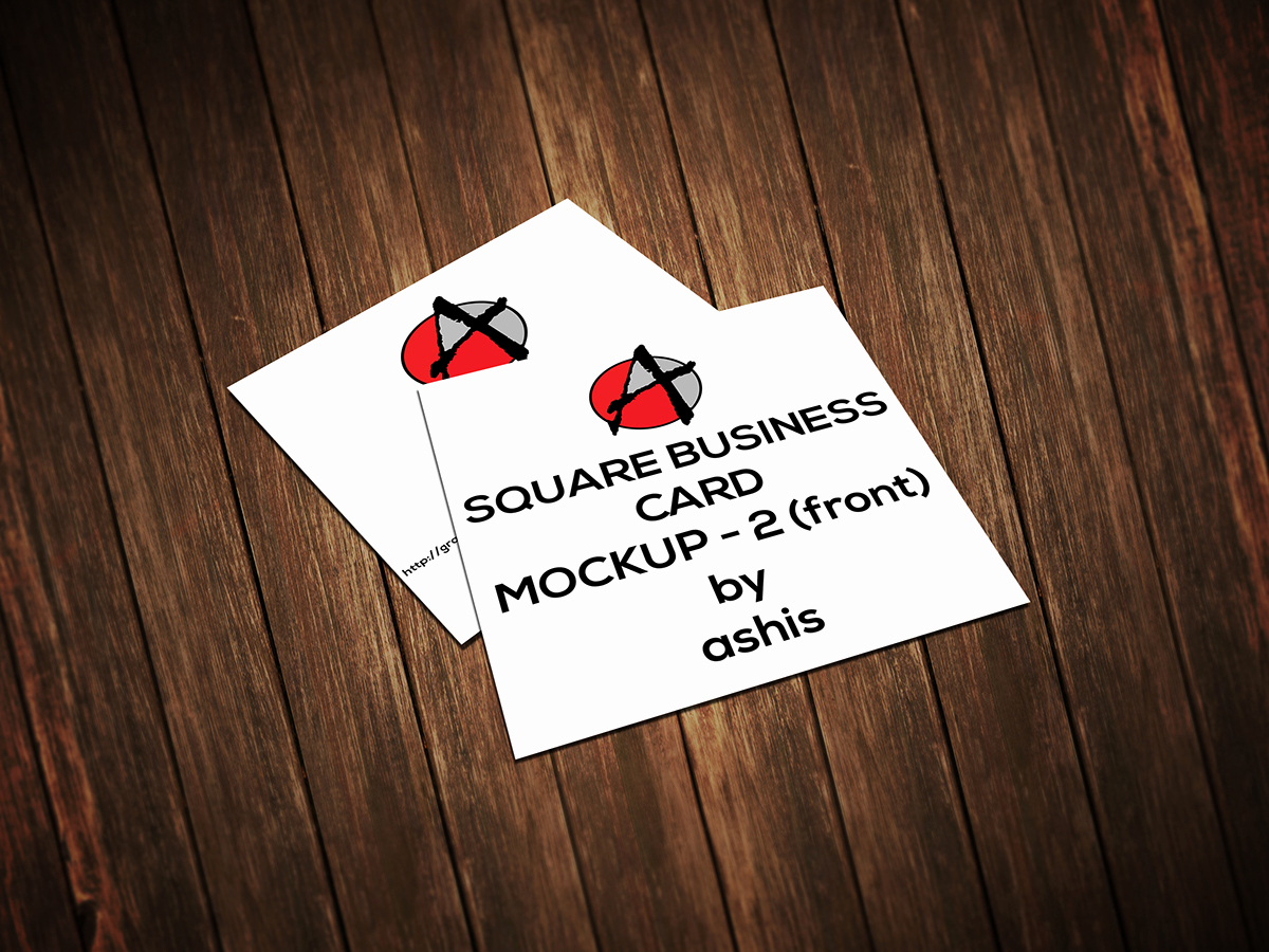 Square Business Card Mockup Inspirational 2 Square Business Card Mockup [free] On Behance