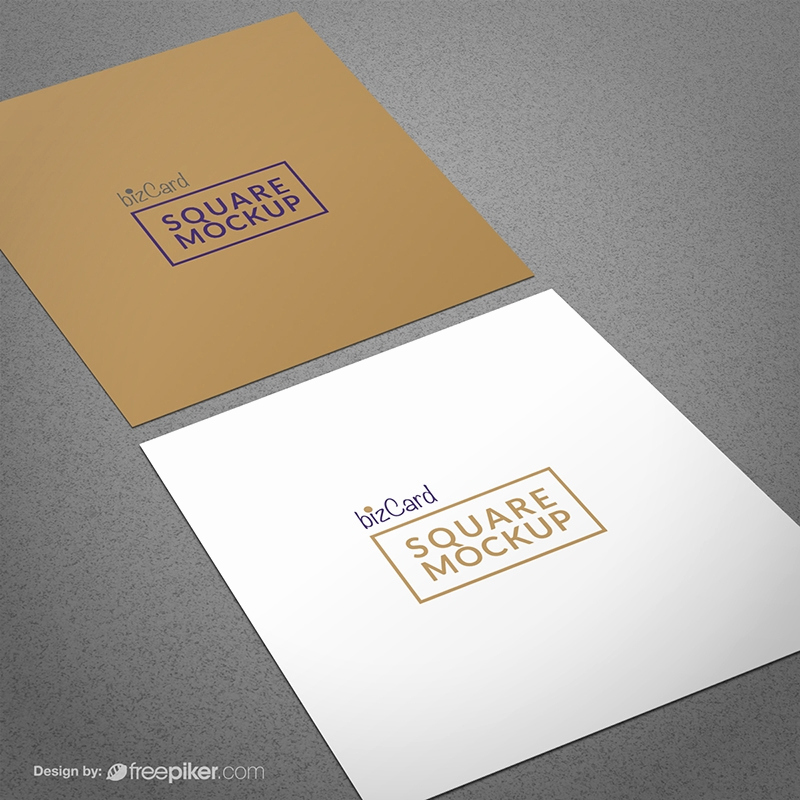Square Business Card Mockup Inspirational Freepiker