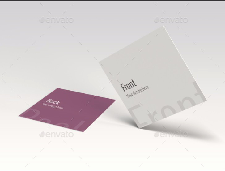 Square Business Card Mockup Lovely 25 Square Business Card Mockup Templates Mashtrelo