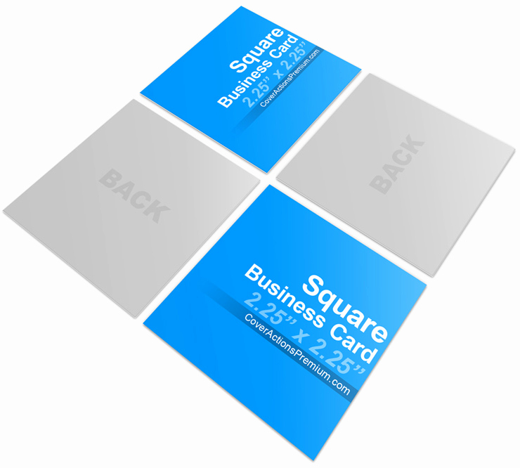 Square Business Card Mockup New Square Business Card Mock Ups