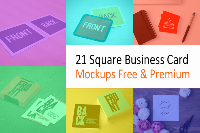 Square Business Card Mockup Unique 21 Square Business Card Mockups Free & Premium Designyep