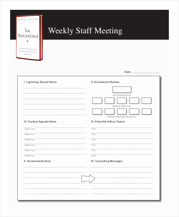 Staff Meeting Agenda Template Lovely 59 Meeting Agenda Examples & Samples Doc Pdf